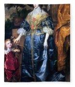 Queen Henrietta Maria (1609-69) Fleece Blanket