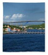 Queen Juliana Bridge  Queen Emma Bridge Curacao Fleece Blanket