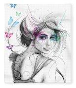 Queen Of Butterflies Fleece Blanket