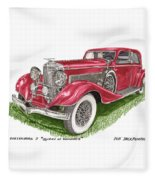 Queen Of Diamonds 1933 Duesenberg Model J Fleece Blanket