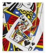 Queen Of Spades Collage Fleece Blanket