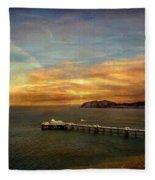 Queen Of The Welsh Resorts Fleece Blanket