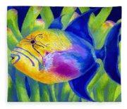 Queen Triggerfish Fleece Blanket