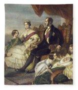 Queen Victoria & Family Fleece Blanket