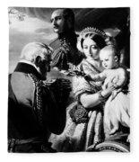 Queen Victoria & Son Fleece Blanket