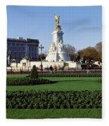Queen Victoria Memorial At Buckingham Fleece Blanket