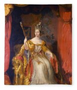 Queen Victoria Of England (1819-1901) Fleece Blanket