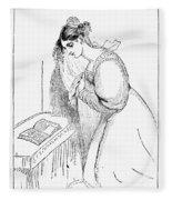 Queen Victoria Sketch Fleece Blanket