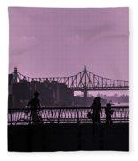 Queensboro Bridge 1 - Manhattan - New York Fleece Blanket