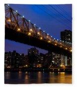 Queensboro Bridge Fleece Blanket