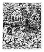 Queiros Voyages, 1613 Fleece Blanket