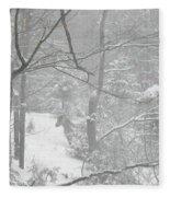 Querida In The Snow Storm Fleece Blanket