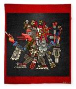 Quetzalcoatl In Human Warrior Form - Codex Borgia Fleece Blanket