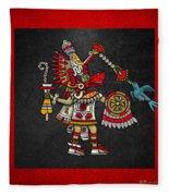 Quetzalcoatl In Human Warrior Form - Codex Magliabechiano Fleece Blanket