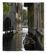 Quiet Canal In Venice Fleece Blanket