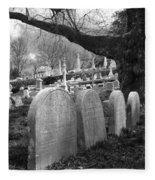 Quiet Cemetery Fleece Blanket