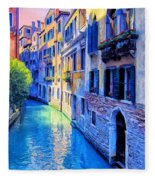 Quiet Morning In Venice Fleece Blanket