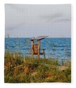 Quiet On The Beach Fleece Blanket