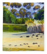 Quiet Sand By The Creek Fleece Blanket