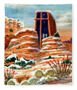Quiet Snowfall  Sedona  Arizona Fleece Blanket