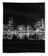 Quiet Streets On Quiet Night Fleece Blanket