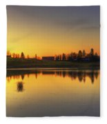 Quiet Sunrise.. Fleece Blanket