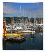 Quiet Time At The Harbor Fleece Blanket