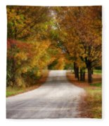 Quiet Vermont Backroad Fleece Blanket