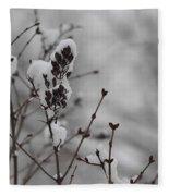 Quiet Winter Fleece Blanket
