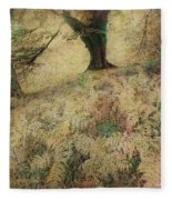 Quietude Of The Forest Fleece Blanket