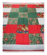 Quilt Christmas Blocks Fleece Blanket