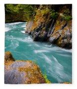 Quinault River Bend Fleece Blanket