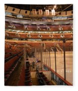 Quite Time Chicago United Center Before The Gates Open Vertical Fleece Blanket
