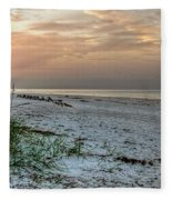 Quite Time On The Beach Fleece Blanket