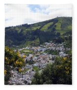 Quito From El Panecillo Fleece Blanket