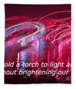 Quote By Ben Sweetland Fleece Blanket