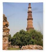 Qutub Minar Fleece Blanket