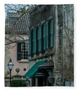 Quuen Street In Charleston Sc Fleece Blanket