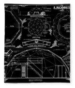 R. Buckminster Fuller Geodesic Dome Home Fleece Blanket