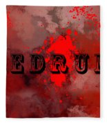 R E D R U M - Featured In Visions Of The Night Group Fleece Blanket