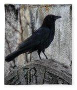 R Is For Raven Fleece Blanket