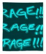 R R R Turquoise Fleece Blanket
