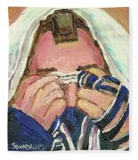 Rabbi's Prayer For The Sabbath Fleece Blanket