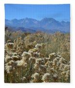 Rabbit Brush Owens Valley Fleece Blanket
