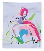 Rabbit - Bunny In Color Fleece Blanket