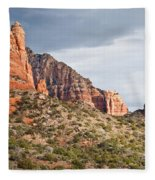 Rabbit Ears Spire At Sunset Fleece Blanket