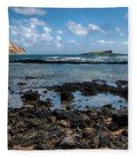 Rabbit Island Tide Pools Fleece Blanket
