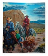 Rabbitbrush Round-up Fleece Blanket