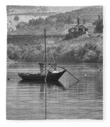 Rabelo Boat Fleece Blanket
