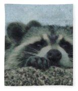 Raccoons Painterly Fleece Blanket